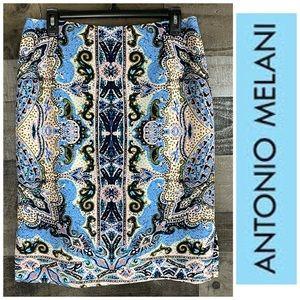 Antonio Melani Pencil Printed Skirt Sz 8